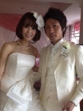 大竹七未 結婚式 画像