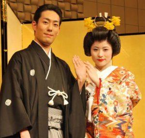 中村勘九郎 前田愛 結婚式 画像
