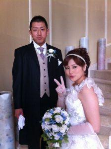 石岡沙織 旦那 結婚式