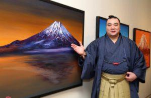 日馬富士 絵画 画像
