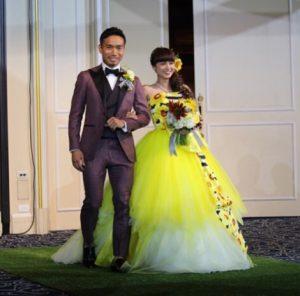 長友佑都 平愛梨 結婚式